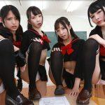 Japanese miniskirt panty class room