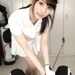 cute Japanese golf teen girl