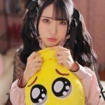 sweet Japanese 18 YO schoolgirl posing with satchel